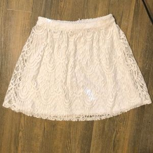 Lace off white skirt